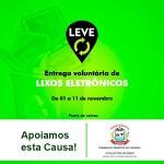 Câmara Municipal de Sorriso participa de campanha para arrecadar lixo eletrônico em prol do Hospital de Câncer de Mato Grosso
